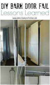 double bypass sliding barn door system a diy fail domestic diy barn door fail lessons learned