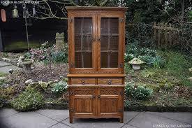 old charm vintage oak display cabinet