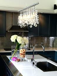 modern kitchen chandelier lighting over island recessed chandeli
