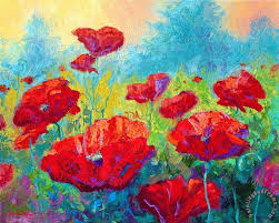 field of red poppies painting marion rose field of red poppies art print