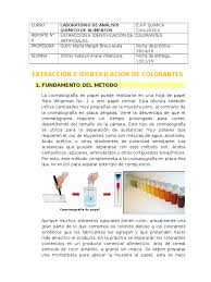 Extracci N E Identificaci N De Colorantes Artificiales Colorantes En Los Alimentos L