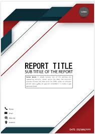 Elegant Red Blue Cover Page Cover Page Template Word