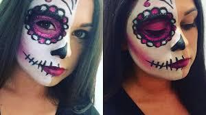 half face sugar skull makeup february 2 2018 admin beauty makeup 0 half face sugar skull makeup