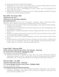 Resume For Servers Restaurant Server Resume Template Hannahjeanne Me