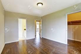 Hardwood Floor Bathroom Empty Master Bedroom Interior With Hardwood Floor View Of