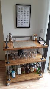 Industrial Bar Cart (wood & black pipe). Industrial BarsDiy Furniture ...