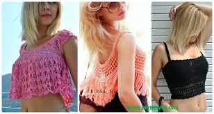 Crochet Crop Top Pattern Amazing Crochet Women Summer Crop Top Free Patterns