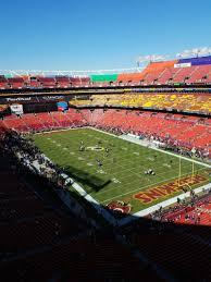 Fedex Field Section 446 Row 1 Seat 1 Washington Redskins