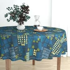navy round tablecloth navy blue plastic
