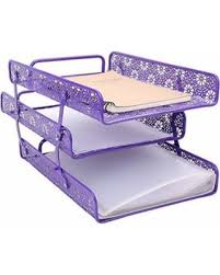 desk office file document paper. metal hollow 3tier document tray magazine frame paper files holder of office desk supplies file l