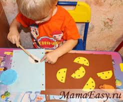 <b>Аппликации для детей</b> 1 - 3 лет. Идеи и шаблоны аппликаций