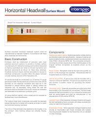 Spec Sheet Interspec Systems