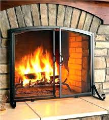 large fireplace screens doors com extra electric fireplaces inserts single panel