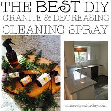 Spring cleaning is just around the corner so I wanted to let you in on one  of my best kept secrets. The best DIY granite and degreasing cleaning spray.