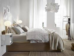 ikea bedroom furniture white. A Medium Sized Bedroom Furnished With White-stained Oak MALM Bed, Hanging EKET Ikea Furniture White T