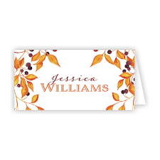 Fall Place Cards Harvest Branches Place Card