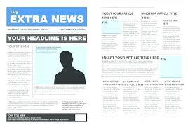 Newspaper Article Template Free Free Newspaper Article Template Tabloid Article Template Paper