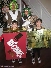 wonka chocolate bar costume.  Costume Willy Wonka Family Costume  2014 Halloween Contest With Chocolate Bar Y