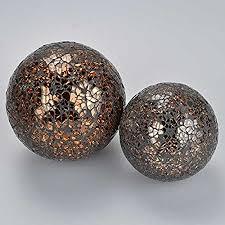 Leopard Decorative Balls Copper Mosaic Decorative Ball Set Amazoncouk Kitchen Home 71