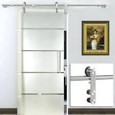brushed nickel barn door hardware kit rustic hinges floor guide wall mount raw steel modern k
