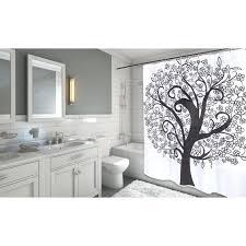 bathrooms colorful tree of life print waterproof shower curtain