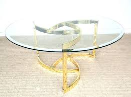 glass side table vintage mid century modern round coffee gold brass contemporary tables for living room glass side table