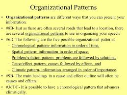 Speech Organizational Patterns Best Chapter 48 Organizing Your Speech Ppt Video Online Download
