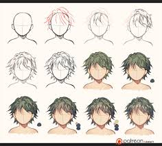 hair sketch to coloring by kawacy