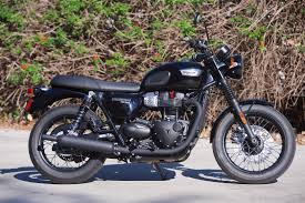 2017 triumph bonneville t100 black review dark good times