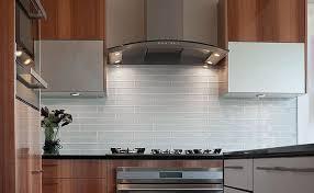 Unique Glass Kitchen Tiles Of White Backsplash Houzz Intended Design Ideas