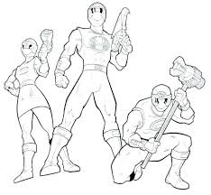 Power Rangers Coloring Pages Printable Power Rangers Samurai