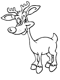 Reindeer1 Christmas Coloring Pages Coloring Page Book For Kids