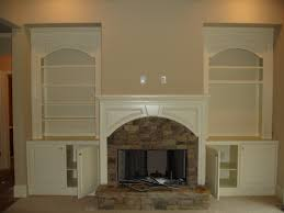fireplace ideas entertaining built in cabinets next to excerpt faux with shelves