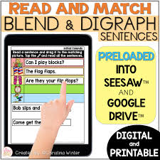 Choose the word that has a particular sound. Digital Printable Phonics Blends Digraphs Phonics Sentences Mrs Winter S Bliss