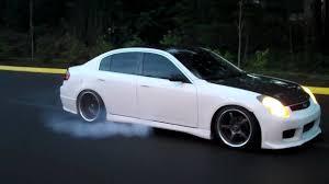 2004 Infiniti G35 Sedan Burnout - YouTube