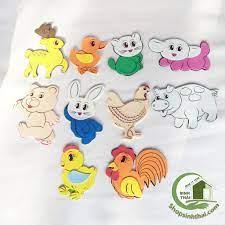 Giá bán Bịch đồ chơi các con thú bằng mút xốp - hình thú dán tường