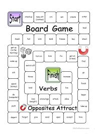 Board Game - Opposites Attract (Verbs) | School | Pinterest ...