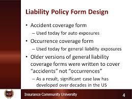 4 insurance community university liability policy form
