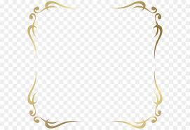 Gold Clip art Decorative Frame Border PNG Picture png download