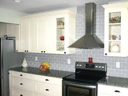 grey subway glass tile ideas backsplash with white grout