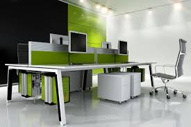 green office ideas awesome. Green And Black Themed Office Interior With Contemporary Furniture Ideas Awesome C
