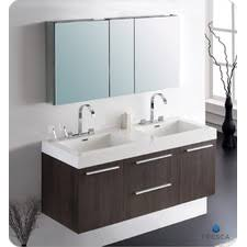 55 inch double sink bathroom vanity: quick view black senza quot double opulento modern bathroom vanity