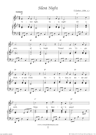 sheet music silent night free silent night sheet music for piano voice or other instruments