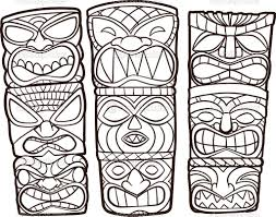 Small Picture For Kid Tiki Coloring Pages 52 On Coloring Online with Tiki