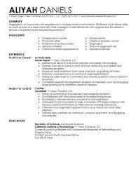 Part Time Job Resume Template Resume Job Examples Example Of Resume For A Job  Examples Of Download