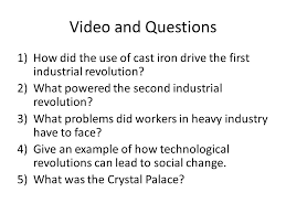 industrial revolution ppt  video and questions how did the use of cast iron drive the first industrial revolution what
