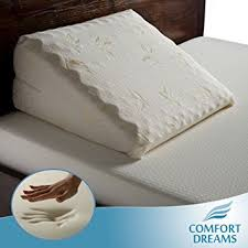 Amazon Memory Foam Bed Wedge pillow by fort Dreams Home