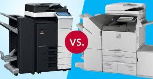 Copier Comparison Chart Comparison Sharp Vs Konica Minolta Color Copiers Les