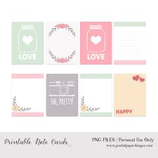 Free Printable Note Cards Free Printable Note Cards Project Life Valentines Day Fab N