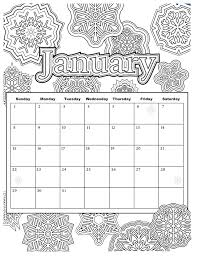 Calendar Coloring Pages For Kids